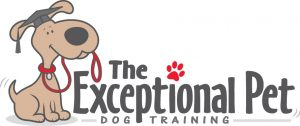 owner trained service dog exceptional pet logo