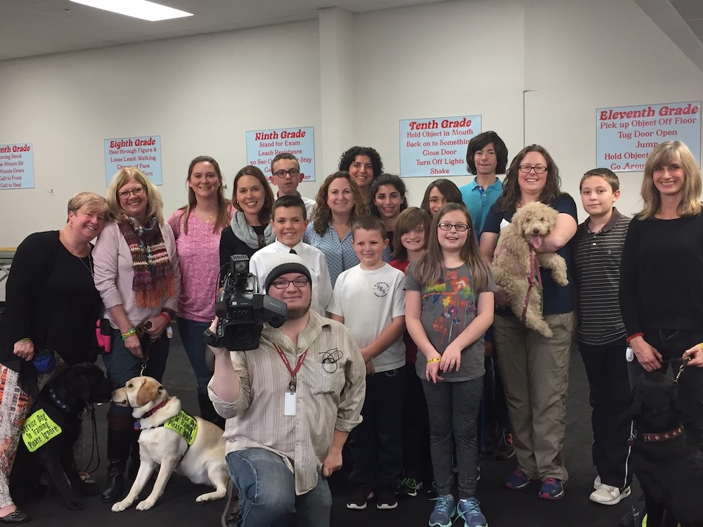 press room service dog event